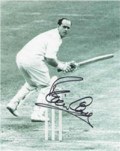 Brian Close, Cricket, Genuine Signed Autograph (03)